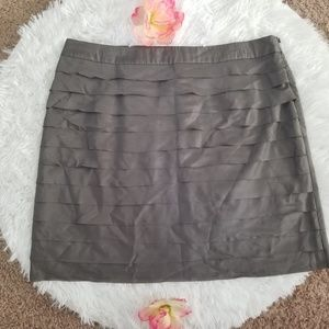 Loft 100% silk gray skirt